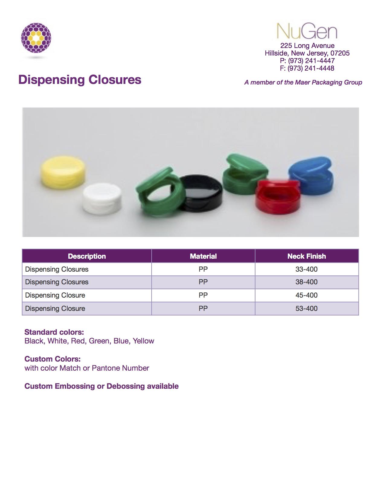 Dispensing Closure 12-3-2015