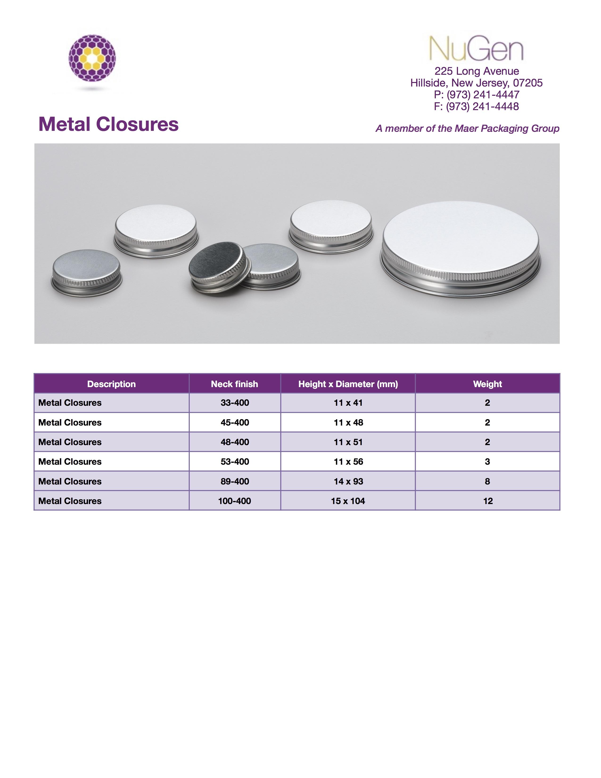 Metal Closures